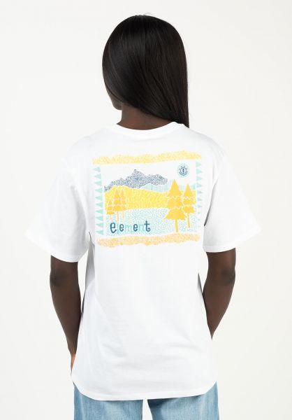 Element T-Shirts Walk about opticwhite vorderansicht 0322796
