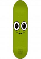 Toy-Machine-Skateboard-Decks-Turtle-Face-green-Vorderansicht
