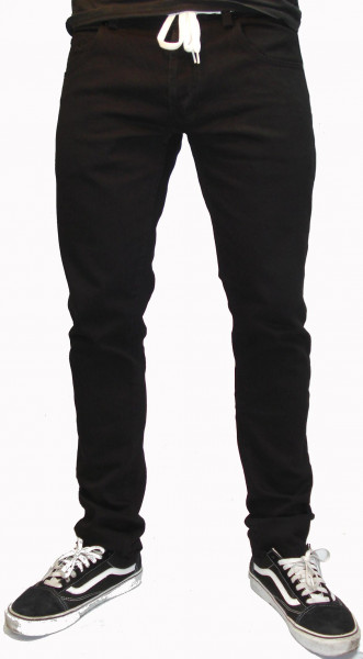 Rebel Rockers Jeans Tube Jeans black Vorderansicht
