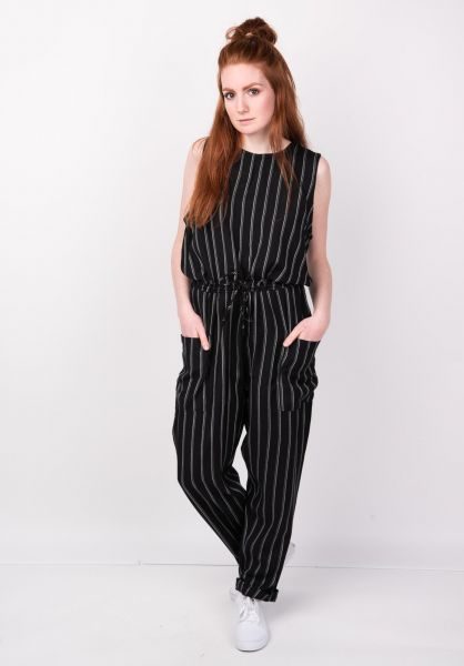 RVCA Jumpsuits Pop Out blackstripe vorderansicht 0251026
