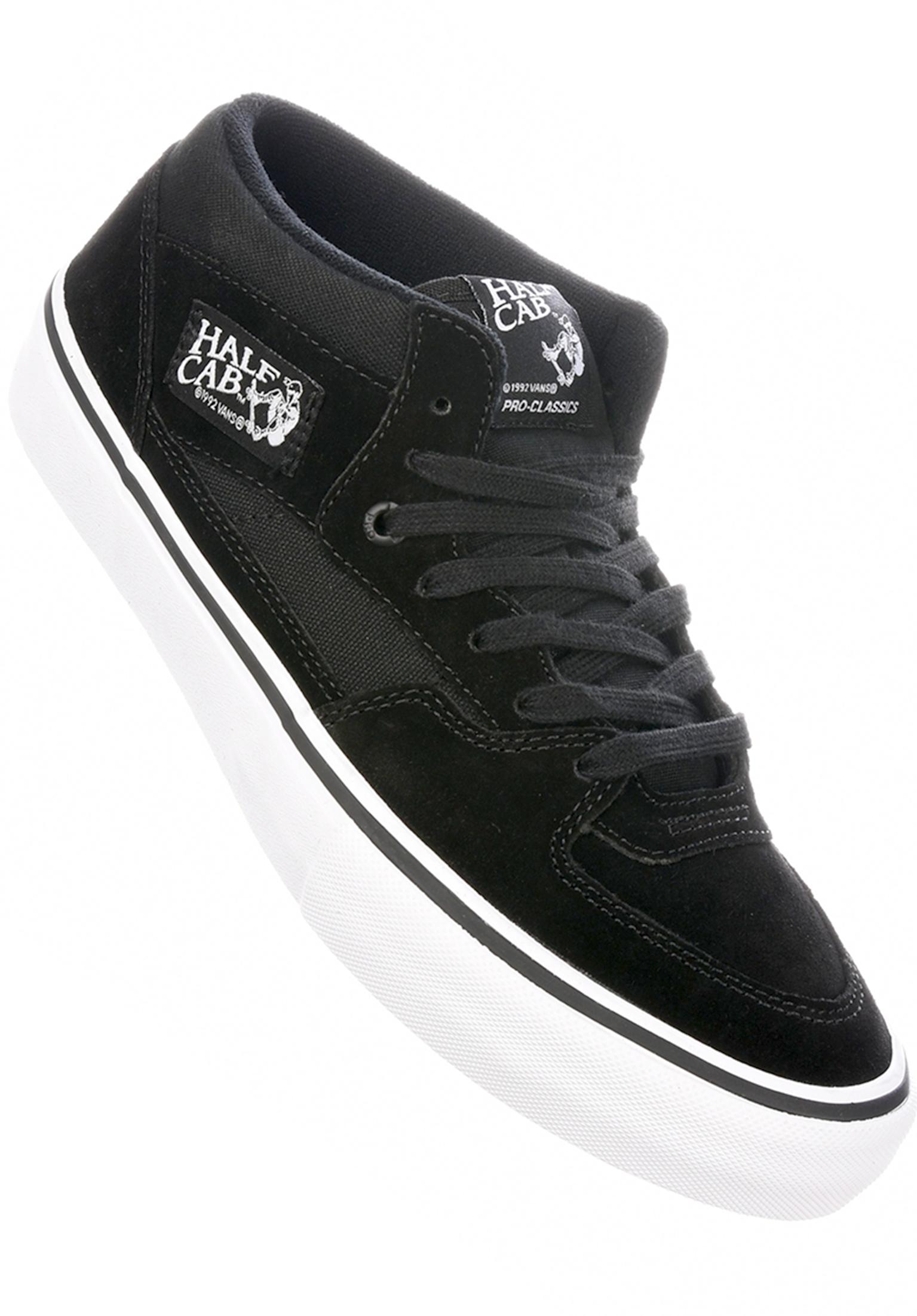 207503f437d881 Half Cab Pro Vans All Shoes in black-black-white for Men