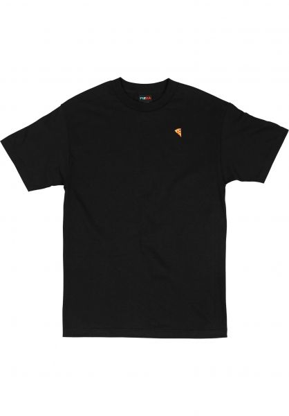 Pizza Skateboards T-Shirts Emoji black Vorderansicht