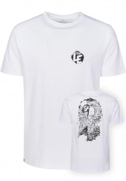 TITUS T-Shirts Leipzig Backprint white Vorderansicht
