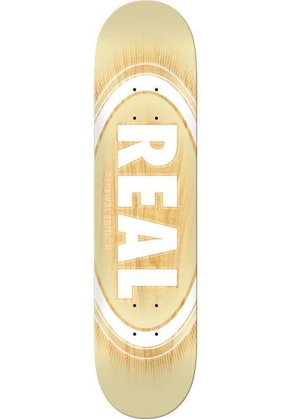 Real Skateboard Decks Oval Burst Fade PP cream vorderansicht 0261692