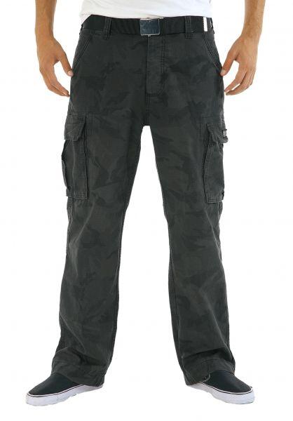 Reell Cargohosen Cargo Ripstop black-camouflage Vorderansicht