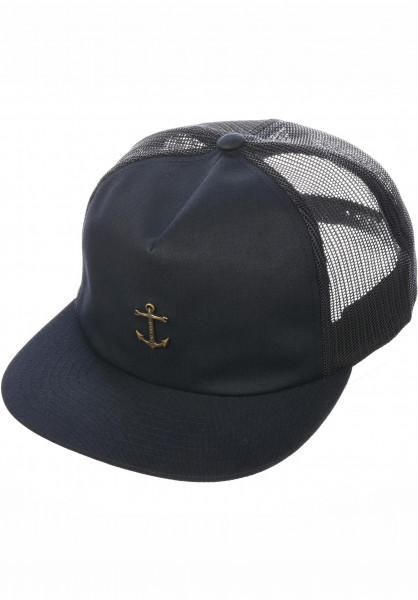 Dark Seas Caps Bottomry darknavy Vorderansicht