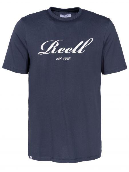 Reell T-Shirts Big Script midblue Vorderansicht