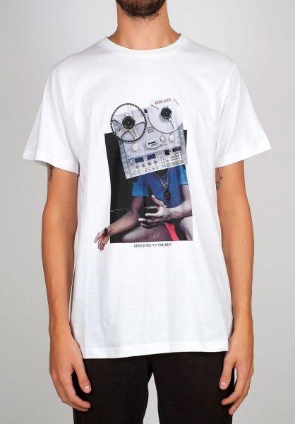 Dedicated T-Shirts Stockholm Tape Head white vorderansicht 0399372