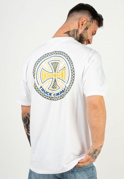 Independent T-Shirts Tiled white vorderansicht 0322580