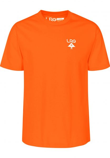 LRG T-Shirts Logo Plus orange Vorderansicht