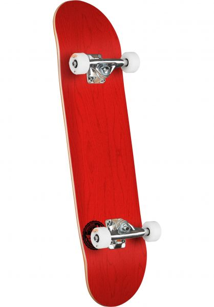 Mini-Logo Skateboard komplett ML Chevron Stamp - Shape 112 dyed red Vorderansicht