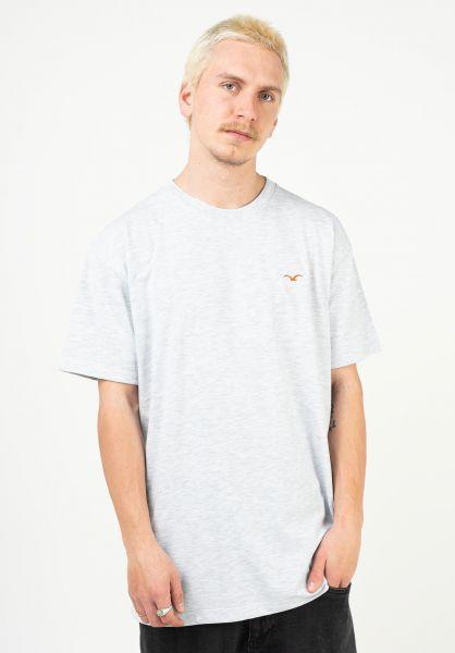 Cleptomanicx T-Shirts Ligull Boxy lightheathergray vorderansicht 0321351