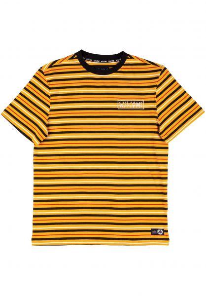Welcome T-Shirts Surf Stripe gold-black-bone vorderansicht 0398808