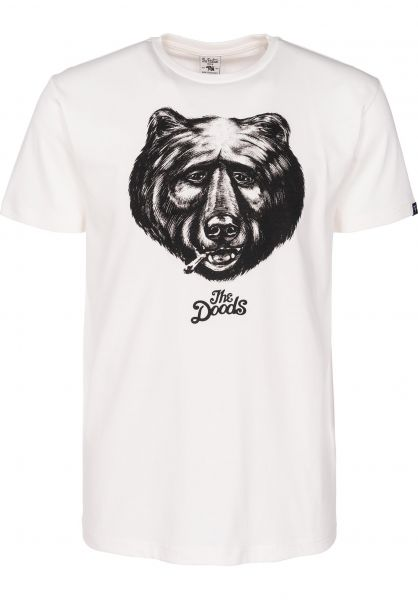 The Dudes T-Shirts Black Bear offwhite Vorderansicht
