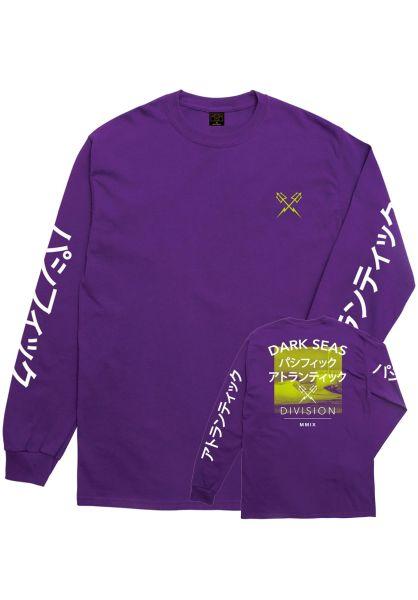 Dark Seas Longsleeves Global purple vorderansicht 0383302