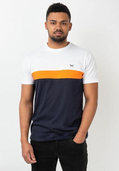 iriedaily T-Shirts Court navy-orange vorderansicht 0320401