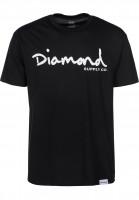 Diamond T-Shirts OG Script black Vorderansicht