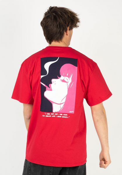 HUF T-Shirts I Feels Good red vorderansicht 0323434