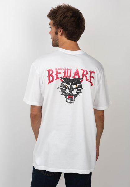 RVCA T-Shirts Beware white vorderansicht 0320140