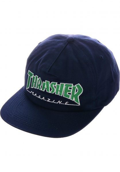 Thrasher Caps Outlined Snapback navy vorderansicht 0565920