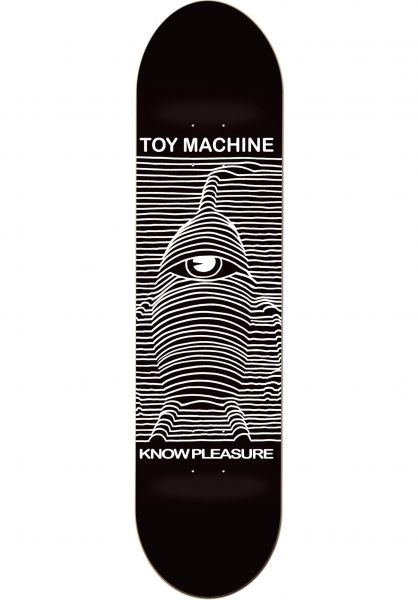 Toy-Machine Skateboard Decks Toy Division black Vorderansicht