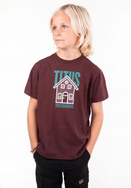 TITUS T-Shirts Lodge Kids deepburgundy vorderansicht 0397473