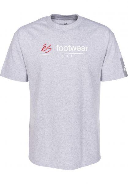ES T-Shirts Heritage Stack heathergrey Vorderansicht