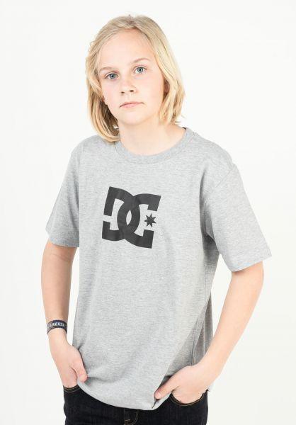 DC Shoes T-Shirts Star Kids heathergrey vorderansicht 0369499