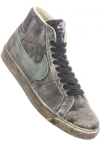 Nike SB Alle Schuhe Zoom Blazer Mid Premium black-lightdew-coconutmilk vorderansicht 0604906