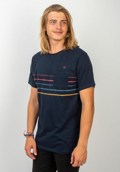 Billabong T-Shirts Spinner Crew navy vorderansicht 0320138