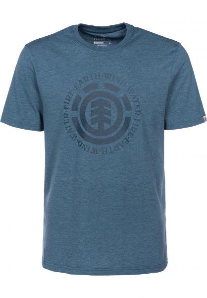 Element T-Shirts Seal bluesteelheather Vorderansicht