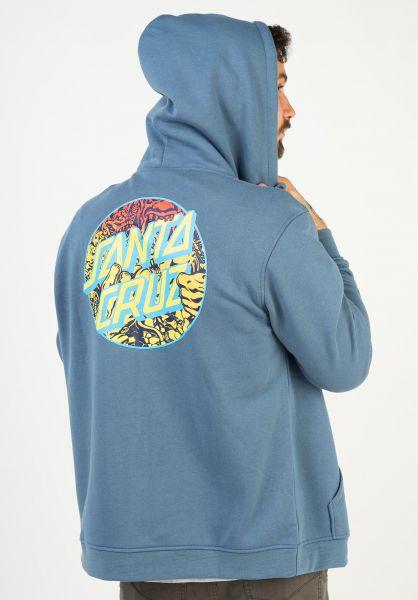 Santa-Cruz Zip-Hoodies Roskopp Dot dustyblue vorderansicht 0454855