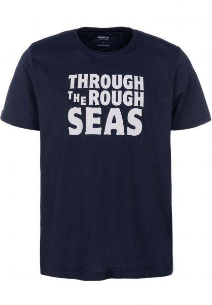 Makia T-Shirts Bold blue vorderansicht 0383347