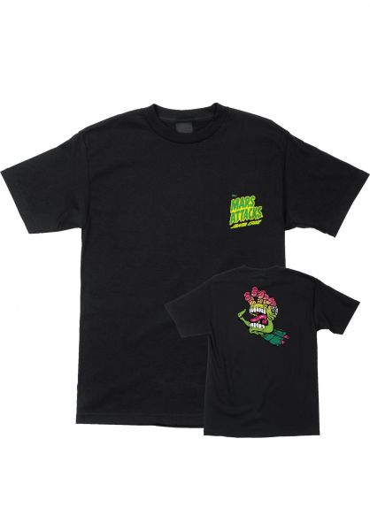 Santa-Cruz T-Shirts Mars Attacks Martian Hand black Vorderansicht