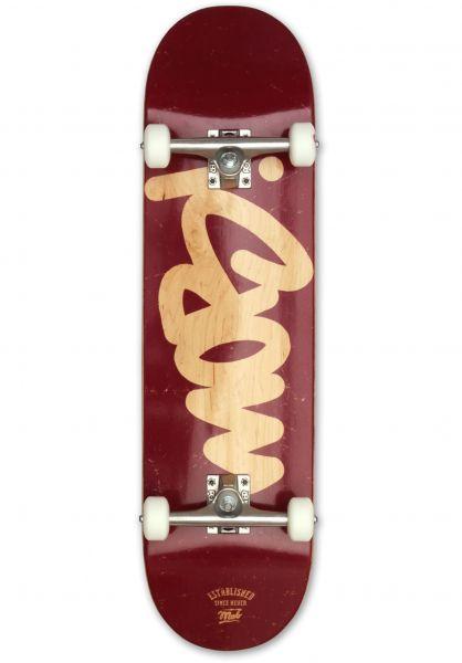 MOB-Skateboards Skateboard komplett Mob Tag burgundy Vorderansicht