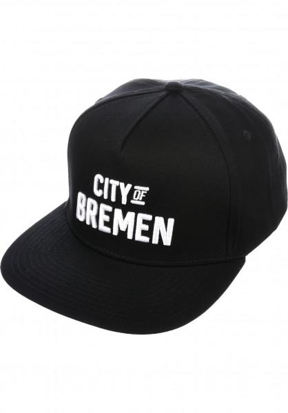 TITUS Caps City of BREMEN Snapback black Vorderansicht