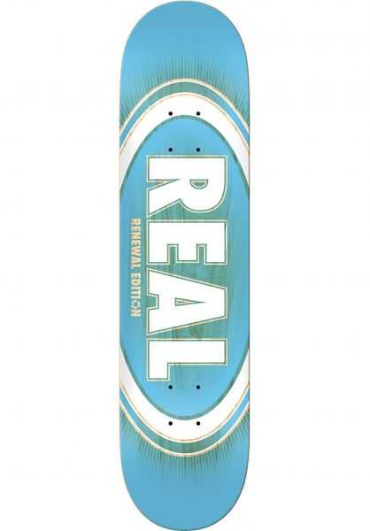 Real Skateboard Decks Oval Burst Fade PP lightblue vorderansicht 0261692