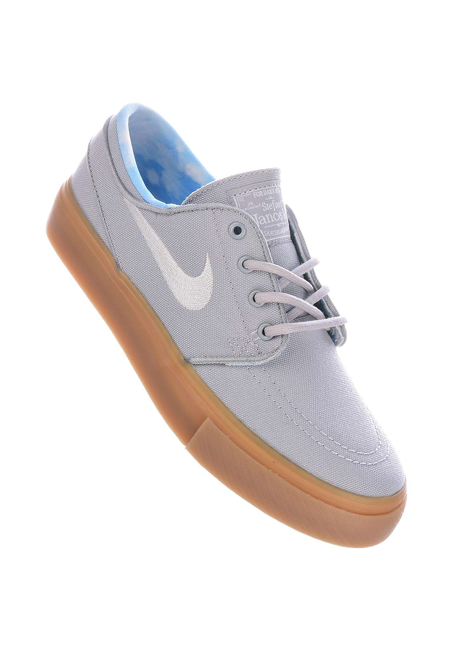 new concept 5175c 6026a Zoom Stefan Janoski Canvas GS Nike SB All Shoes in wolfgrey-white-gum for  Kids   Titus