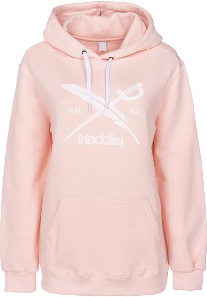 iriedaily Hoodies Big Flag rose Vorderansicht