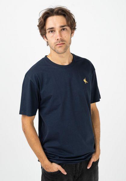 Cleptomanicx T-Shirts Gull Rider darknavy vorderansicht 0322198