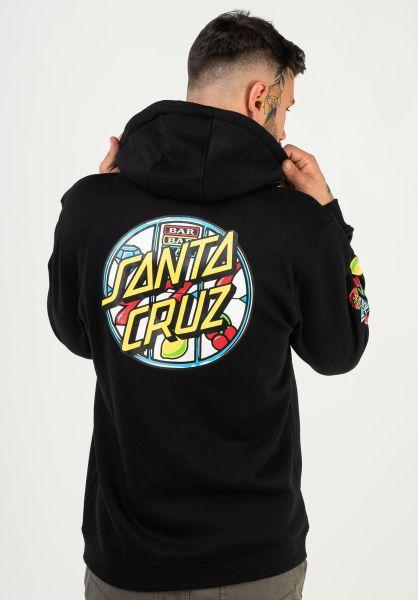 Santa-Cruz Hoodies Jackpot Dot black vorderansicht 0446068