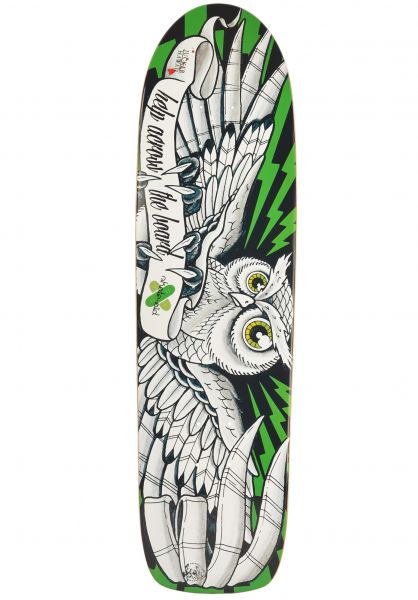 Jucker Hawaii Skateboard Decks x skate-aid collabo  Skowl black-white-green Vorderansicht