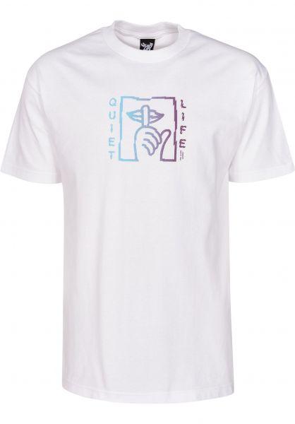 The Quiet Life T-Shirts Shatter T white vorderansicht 0399591