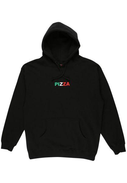 Pizza Skateboards Hoodies Tri Logo black vorderansicht 0422998
