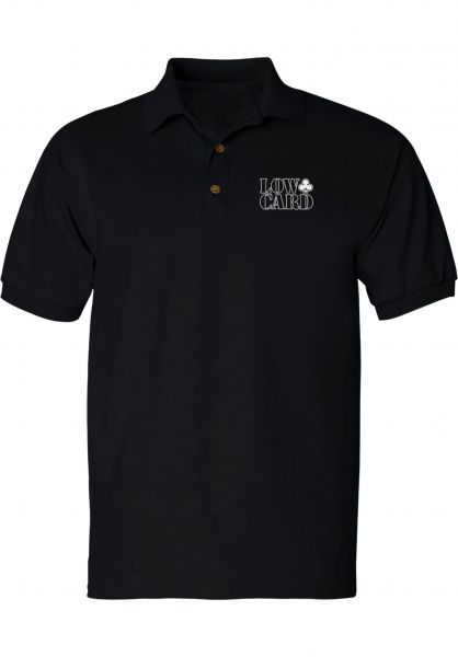 Lowcard Polo-Shirts Woods Golf Polo black vorderansicht 0138449