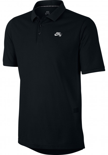 Nike SB Polo-Shirts DFT Pique black-white Vorderansicht