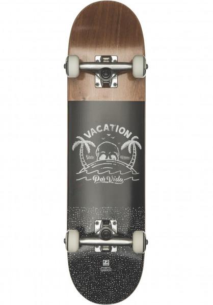 Globe Skateboard komplett Por Vida Mid brown-black Vorderansicht