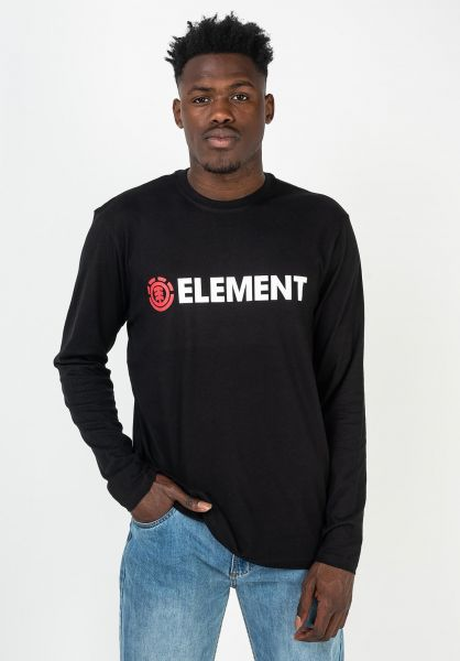 Element Longsleeves Blazin flintblack vorderansicht 0383858
