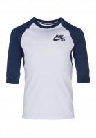 Nike SB Longsleeves DFT 3Qt Sleeve Kids white-binaryblue Vorderansicht