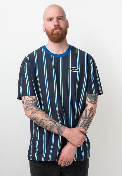 HUF Hemden kurzarm Jerome YDS navyblazer vorderansicht 0400981